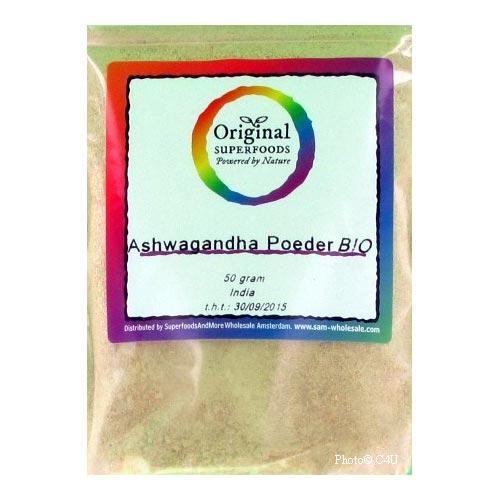 Biologische Ashwagandha poeder (50 gram)