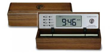 Digital Zen alarm clock Walnut B-tone